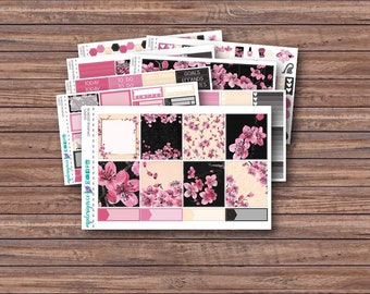 Sakura Blossom Weekly Kit | Summer Planner Stickers | ECLP | Happy Planner | Recollections Planner | Weekly Planner Stickers