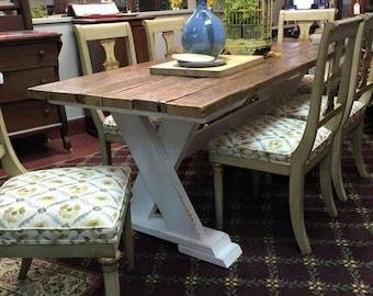 X Base Trestle Dining Table