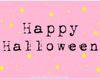 Pink Halloween - 5 Postcard set