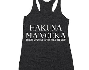 Hakuna Mavodka Tank BLACK