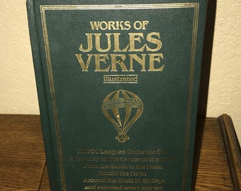 Works of Jules Verne-Illustrated-Avenel Books-HB Book-1983