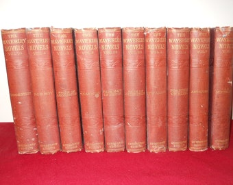 Waverley Novels Ivanhoe, Rob Roy, The Antiquary Red Gauntlet by Sir Walter Scott
