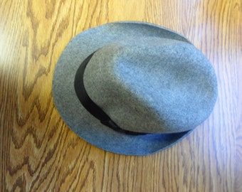 Vintage Mens Fedora Mens Felt Hat Bailey of Hollywood Gray Fedora Gifts for Grandpa Wool Felt Hat Man Stuff Cool Mens Gifts Felt Fedora