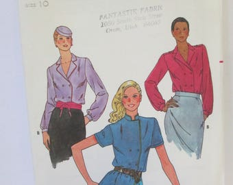 Butterick 6776 Blouse Paper Pattern uncut used Size 10