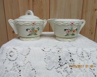 1930's Porcelier Cream and Sugar Set