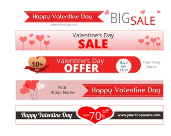 Increase sale with Custom Valentine Banner