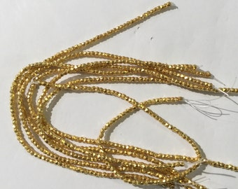 2 mm vermeil sterling silver nugget beads