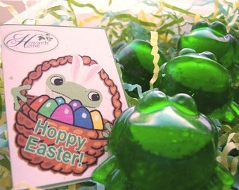 10 EXPLODING FROG SOAP Easter Basket Stuffers with Easter Gift Card Tags Attached