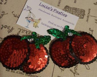 Red cherry nipple pasties
