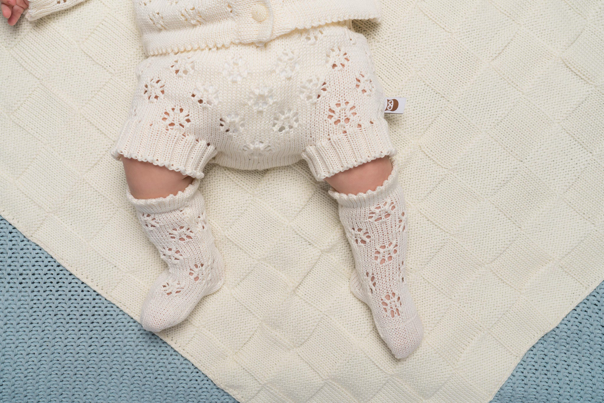 KNIT BABY SOCKS off white ivory lace socks Baby shower t