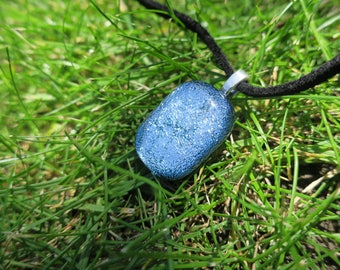 Silver Dichroic glass pendant