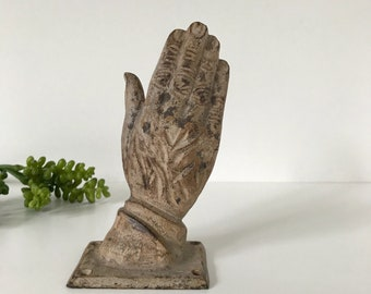Unique Cast Iron Hand Hook, Wall Mounted Hand Decor, Metal Body Part, Heavy Iron Hand Statue