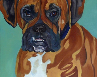 Boxer Dog Original Pet Portrait