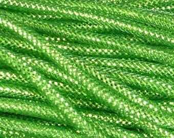 8MM Dark Green Lime Green Foil RE300454, Deco Flexible Tubing, Poly Mesh Supplies (10 Yards)