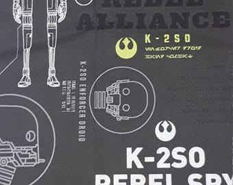Star Wars- Rogue One- K2S0 Fabric- Fabric by the Yard