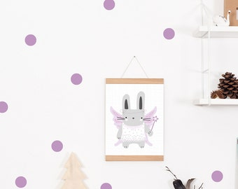 Wall decals / wall stickers 30 points of dots purple
