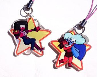 Garnet Fusion Acrylic Charm - Steven Universe - Ruby - Sapphire - Rupphire