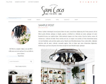 Responsive WordPress Theme - Genesis Child Theme - Sami Coco Template - WordPress Blog Theme - Feminine WordPress Theme