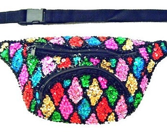 Mosaic Square Sequined Fanny Pack