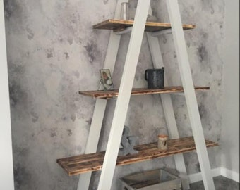 Top quality handmade vintage look ladder shelves