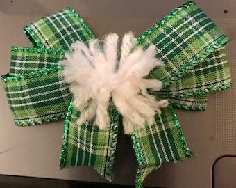 St. Patricks Day hair bow.