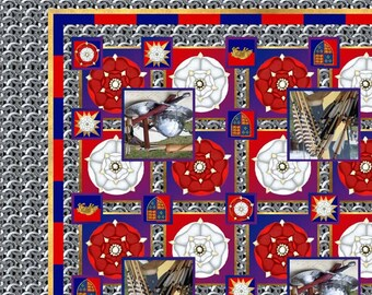 Wars of the roses silk scarf