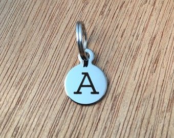 Laser Engraved Initial Charm, Stainless Steel Letter Charm, Add On Initial Charm, Alphabet Charm, Initial Keychain Charm