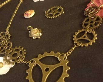 Gear and Cog Chain Necklace