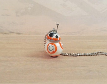 Star Wars, The Force Awakens, BB-8 droid Inspired necklace, BB8 pendant