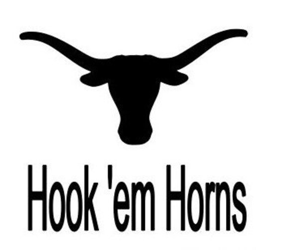 Texas decals, Hook'em horns decals, Texas longhorn decals, 30 oz decal, vinyl decal for tumbler cup, vinyl, car stickers, truck, auto