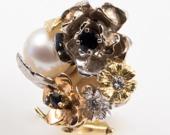 Sapphire Garden Earrings