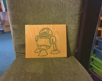 R2D2 - Star Wars Inspired Sign. Solid Wood, Hand Painted 1-Sided Sign. Custom Made - Options Available!!
