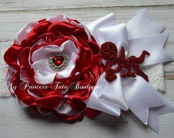 Valentine's Day Headbands Satin Flower Headband Little Girls Headbands Flower Headbands
