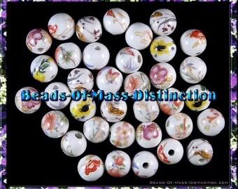 100 11mm Porcelain Bead Assortment - Destash Sale