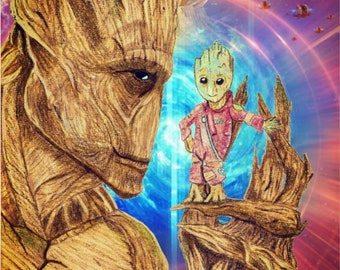 Guardians of the Galaxy- Big and Little Groot