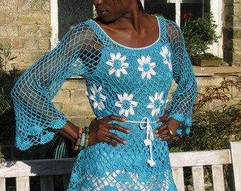 HANDMADE CROCHET JUMPER,top in a choice of color combinations