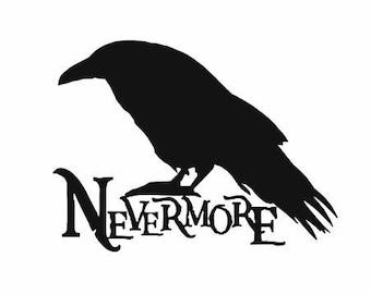 Edgar Allan Poe Nevermore The Raven Decal