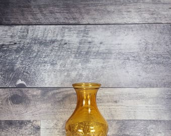 Vintage amber juice decanter   pitcher