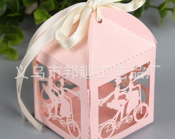 50pcs 5*5*5cm lovers candy box hollow European creative candy boxes wholesale