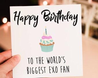 Personalised K-Pop Birthday Card