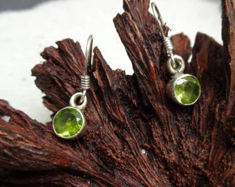 Sterling Silver 925 Earrings with Peridot  (SV-ER-107)