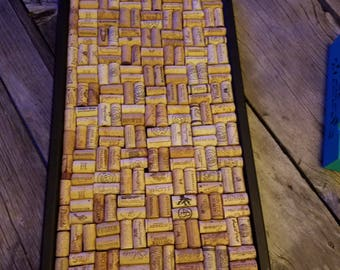 Bulletin Board/Wine Cork Art/Message Center/Wedding Organizer