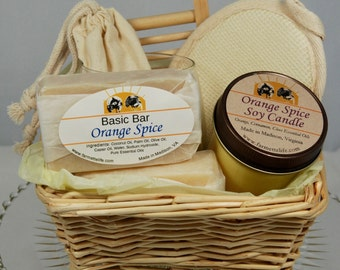 Candle and Soap Gift Basket, Soy Candle Gift Basket, Soap Gift Basket, House Warming Gift, Thank you Gift