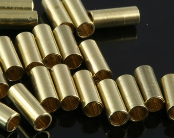 Raw Brass Tube 4 x 10 mm (hole 2.8 mm 9 gauge) industrial raw brass,raw brassPendant,Findings spacer bead 1471