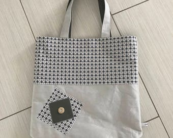 novelty bag tote bag with fabric lined