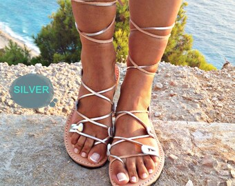 Gladiator leather sandals women, leather sandal 100% genuine leather