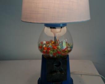 Authentic gum ball machine lamp