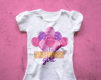 Birthday Girl SVG, birthday girl balloons cut file, balloon birthday girl svg, balloon svg, birthday svg, girl svg, birthday girl shirt svg