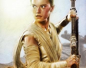 Rey - Star Wars: The Force Awakens illustration