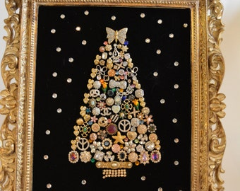 Vintage Jewelry Christmas tree one of a kind